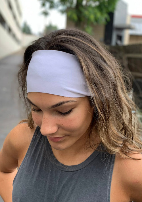 No Slip Marshmallow Antimicrobial Yoga Headband