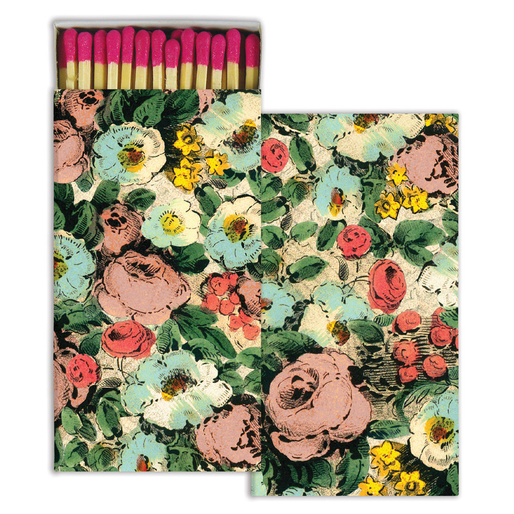 Matches - Floral Collage - Pink
