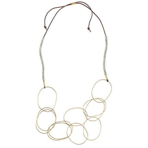 Lombok Organic Link Necklace - Aqua