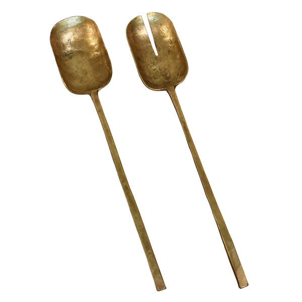 Salad Servers - Brass