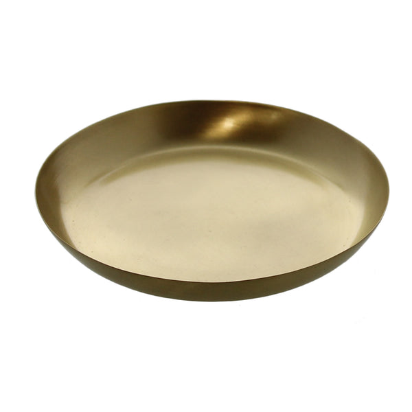 Satin Tray - Med - Brushed Brass