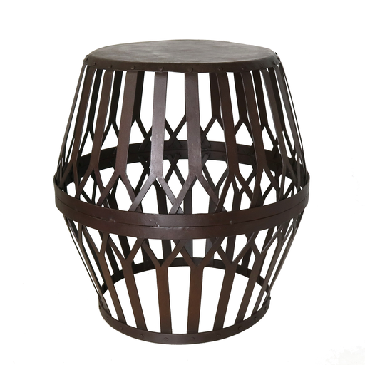 Woven Iron Side Table