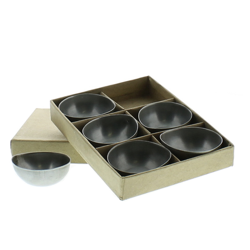 Alma Metal Tealight Holder - Boxed Set of 6 - Zinc