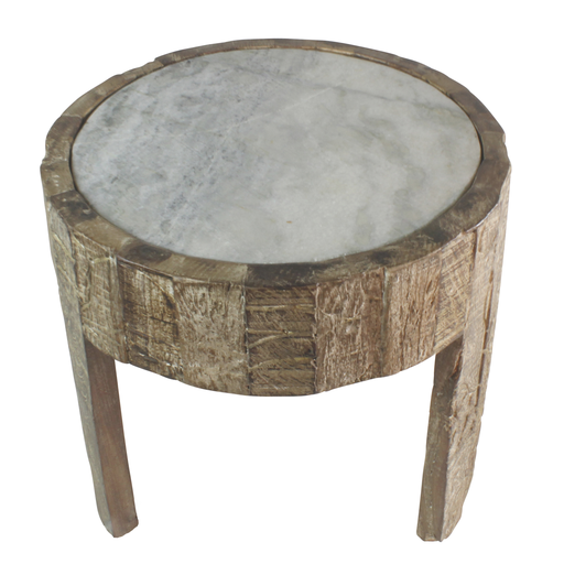 Portico Side Table with Marble Top