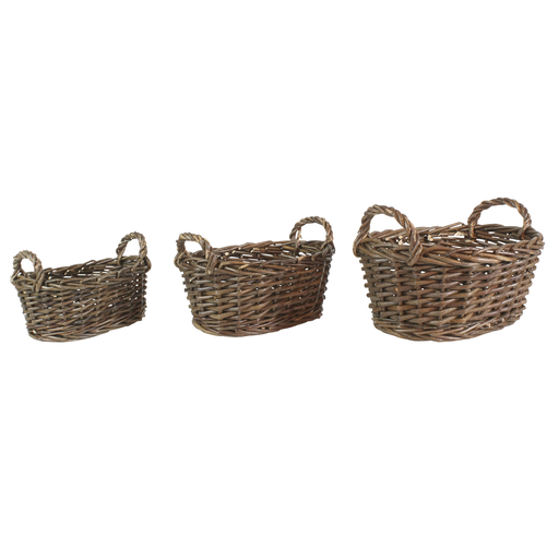 Willow Baskets Oval - Small - Set of 3
