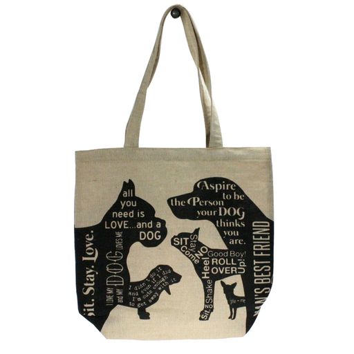 Juco Tote Bag Man's Best Friend