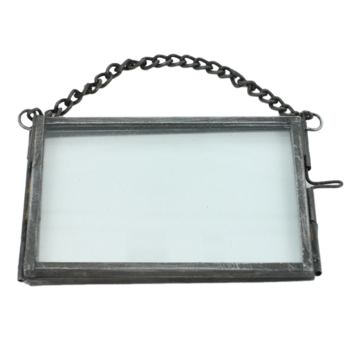Pierre Ornament Frame - 3.5x2.5 Horizontal Zinc
