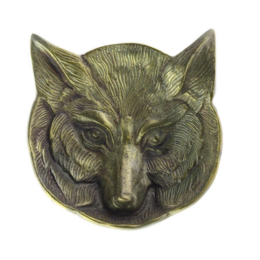 Fox Cast Metal Dish - Antique Brass