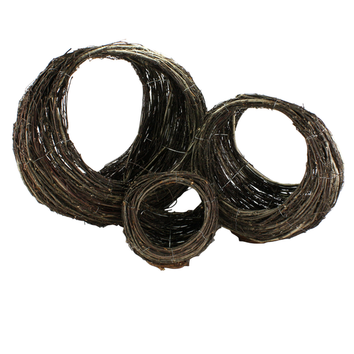 Willow Ellipse Baskets - Set of 3 Natural