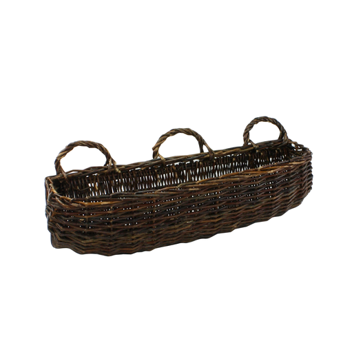 Willow Rectangle Wall Basket - Lrg - Natural