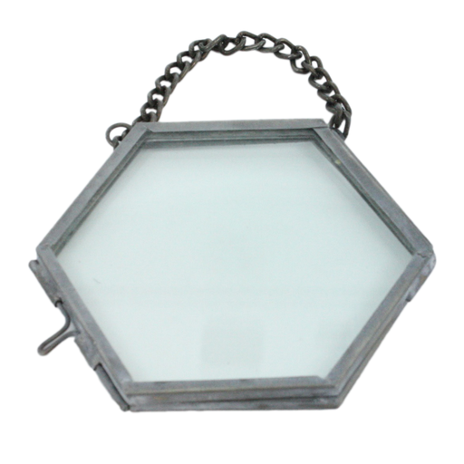 Pierre Ornament Frame -3.25 x3.0 Hexagon Zinc