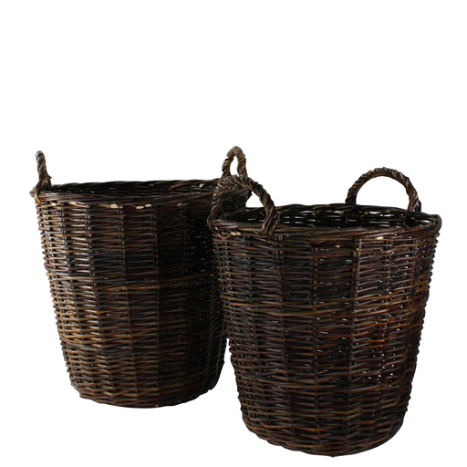 Willow Round Baskets - Set of 2 Natural