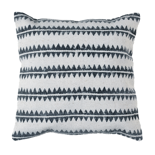 Block Print Pillow 16x16 - Sawtooth Stripe