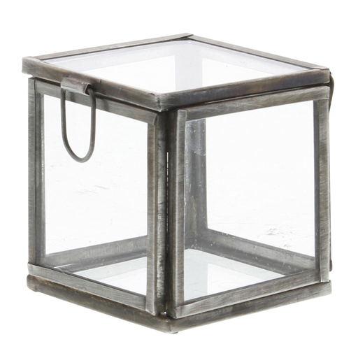 Pierre Demi Leaded Glass Box - Petite Silver