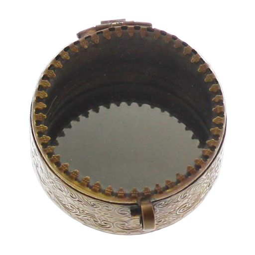 Josephine Mirrored Box, Brass - Sm Round