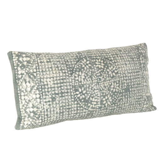 Wyatt Pillow 12x24 - Sky Grey