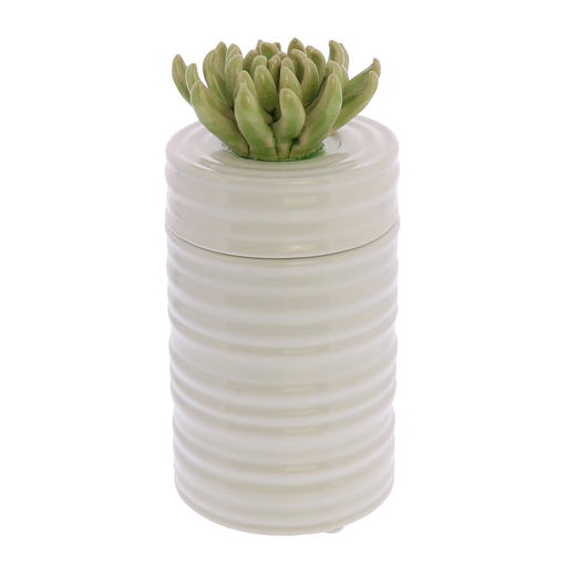 Succulent Canister, Tall - Green