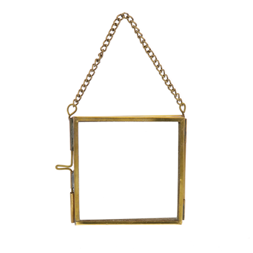 Monroe Ornament Frame - 3x3 - Brass