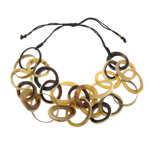 Teton Necklace, Horn & Brass
