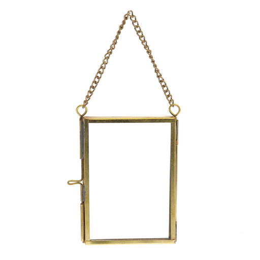 Monroe Ornament Frame - Rect - Wallet - Brass