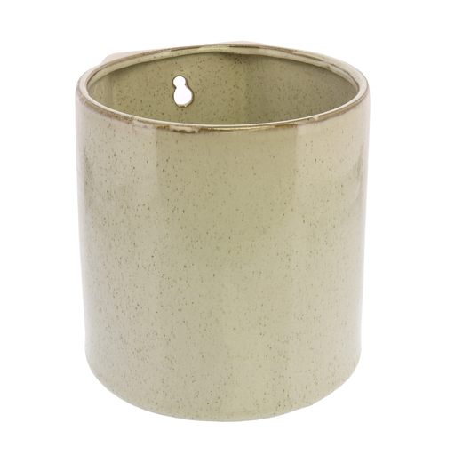 Logan Wall Vase - Lrg - Flecked White