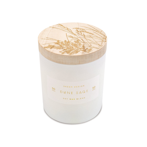 Dune Sage Small Print Block Candle
