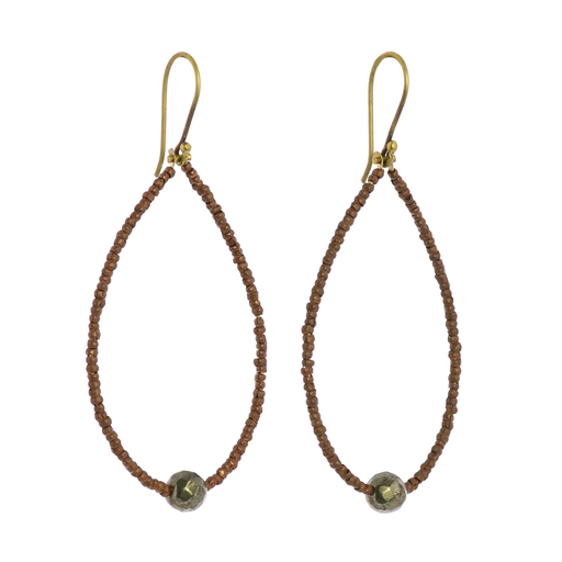 Astrid Beaded Earrings - Pyrite