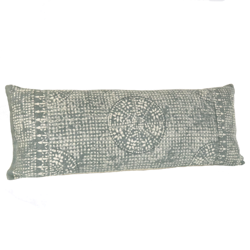 Wyatt Pillow 14x36 - Sky Grey