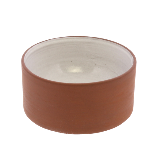 Corbet Bowl - Sm - Red Clay, White Glaze