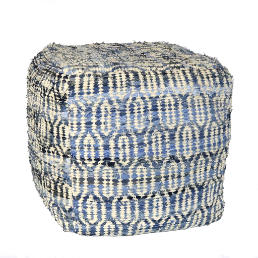 Strauss Pouf - Square - Ogee Pattern