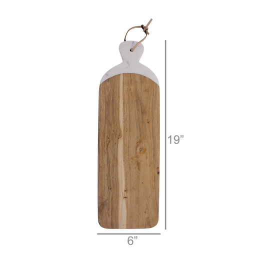 Mercer Cutting Board, Wood & Marble - Long