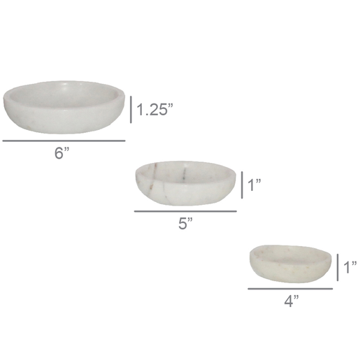 Mercer Marble Bowls, Set of 3