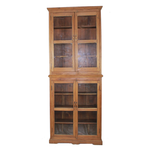Wood/Glass Tall Cabinet