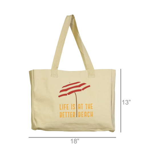Beach Tote, Canvas - Life Is Better At The Beach