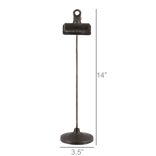 Bookkeepers Clip on Stand, Metal - Lrg - Black