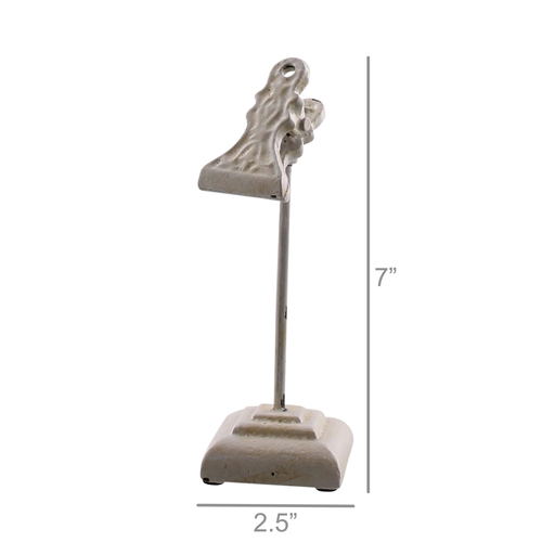 Sophia Clip on Stand, Cast Iron - Sm - White