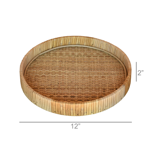 Cayman Tray, Rattan - Med - Natural