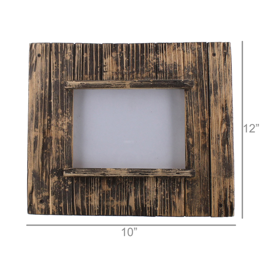 Shiplap Frame, 5x7 Vertical - Natural Wood & Black