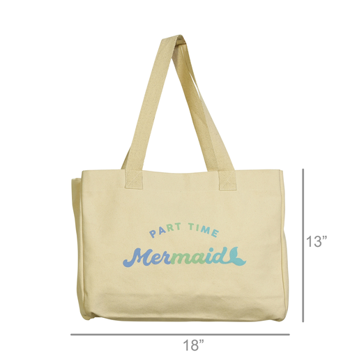 Beach Tote, Canvas - Part Time Mermaid
