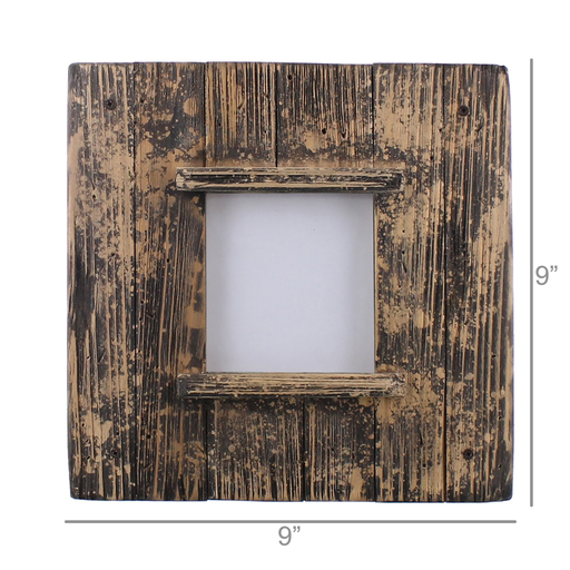 Shiplap Frame, 4x4 - Natural Wood & Black