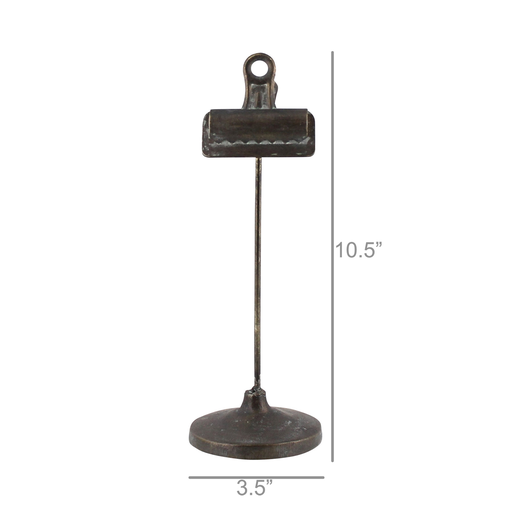 Bookkeepers Clip on Stand, Metal - Sm - Black