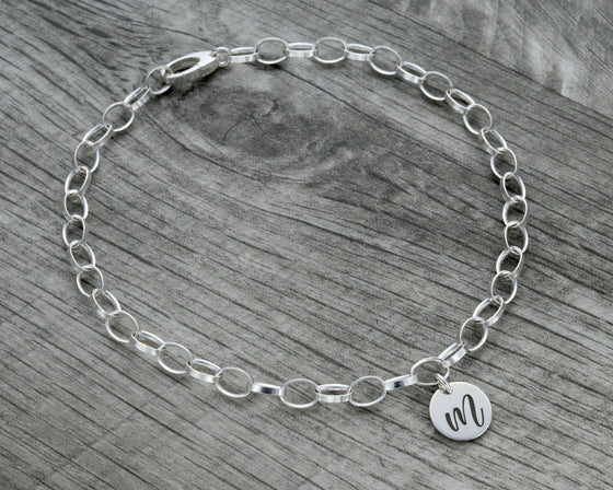 PERSONALIZED INITIAL ANKLE BRACELET