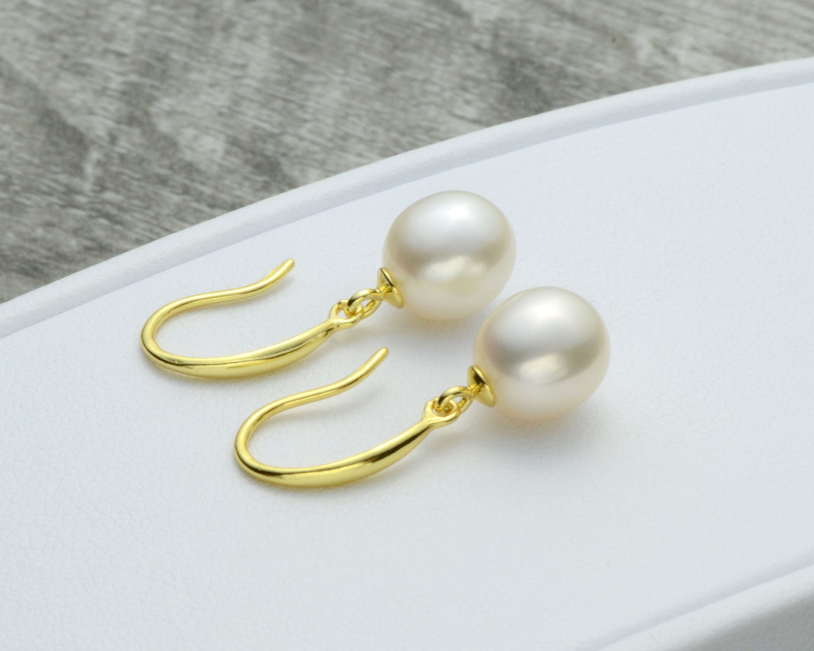 PEARL DROP EARRINGS - GOLD