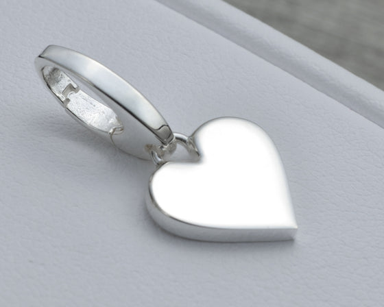 HEART CHARM IN STERLING SILVER