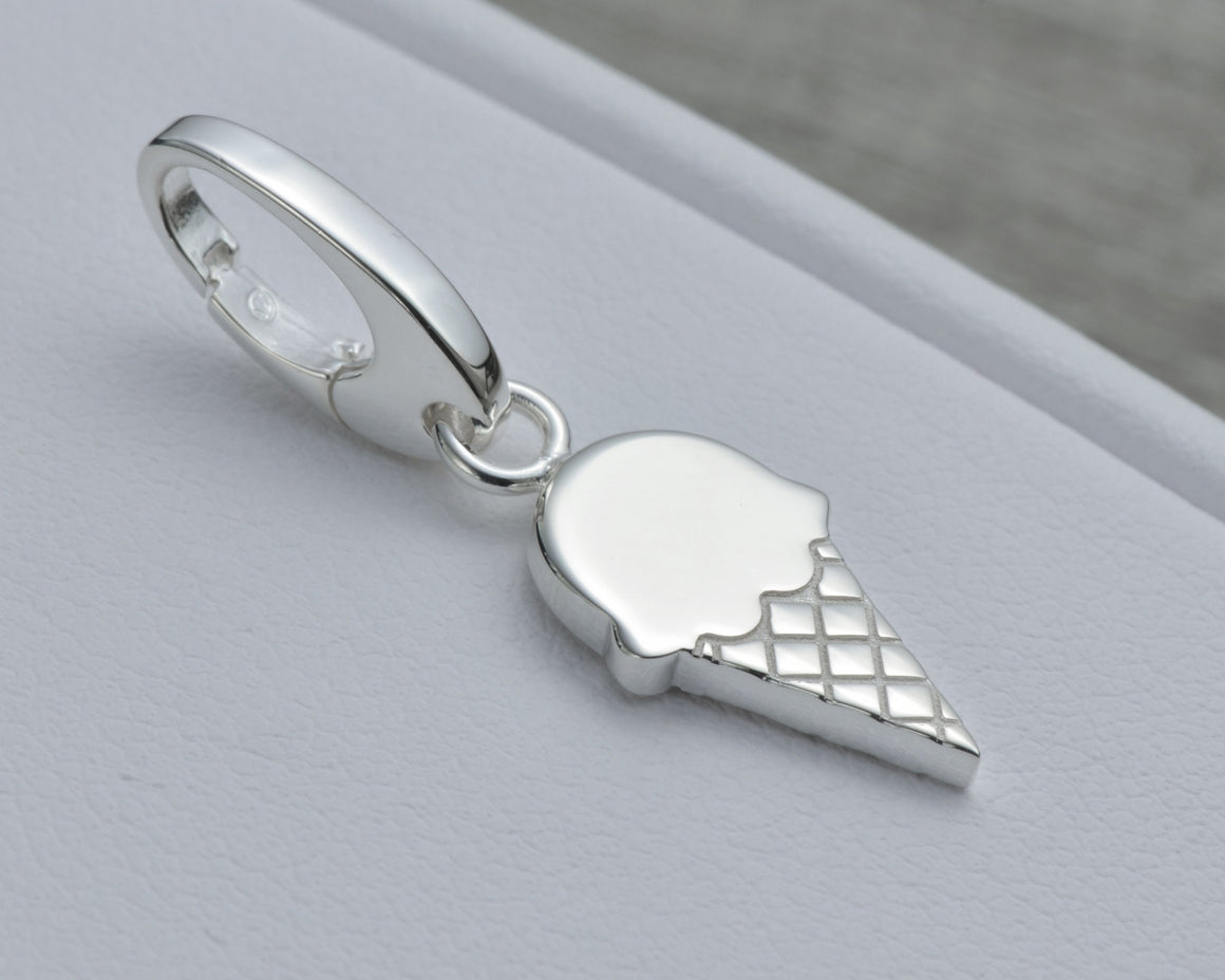 ICE CREAM CHARM IN STERLING SILVER