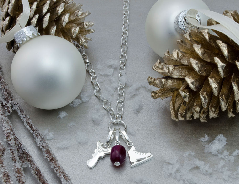 Ice Skate Charm Necklace