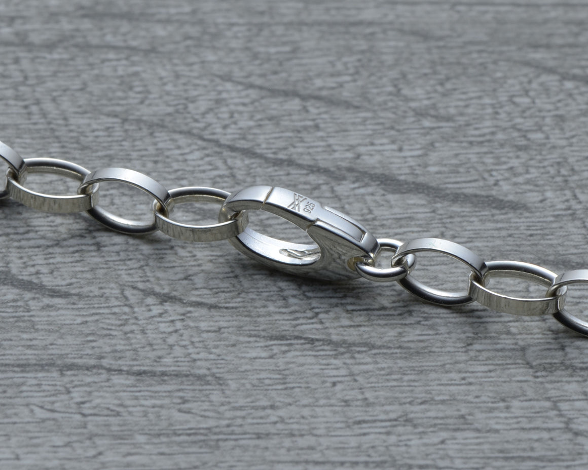 Custom clasp in sterling silver for charm bracelet