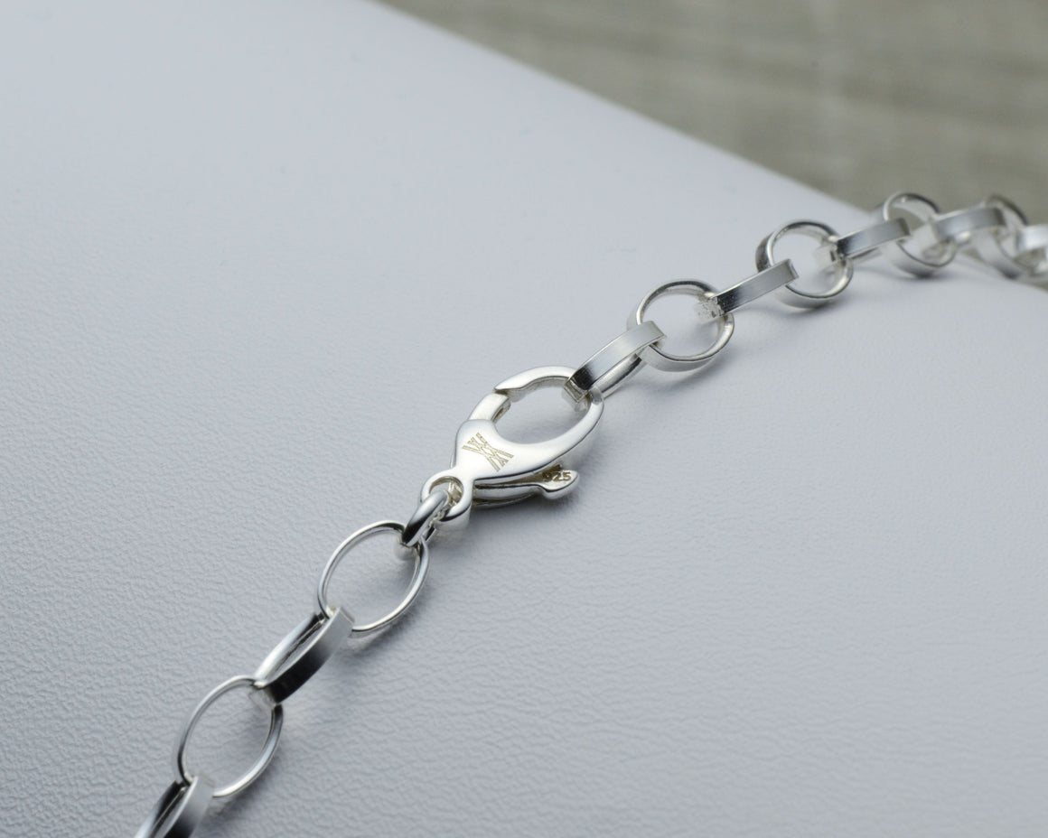 sterling silver lobster clasp on rolo chain