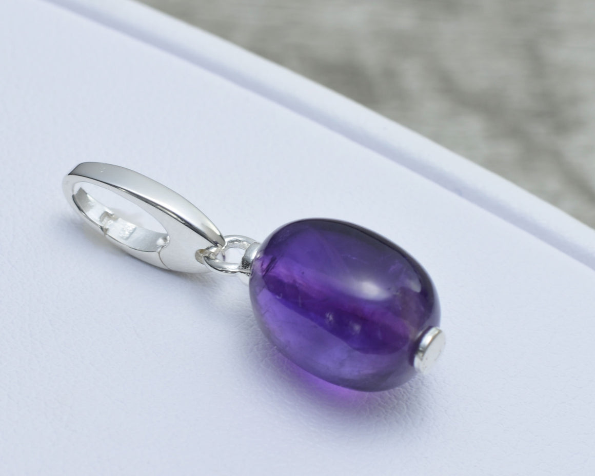 PURPLE AMETHYST CHARM