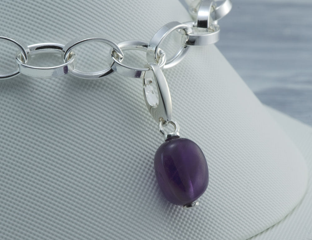 Purple Amethyst Gemstone Charm